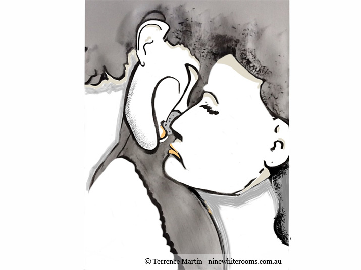 Portraits Art #2013.35 Sepia Kiss